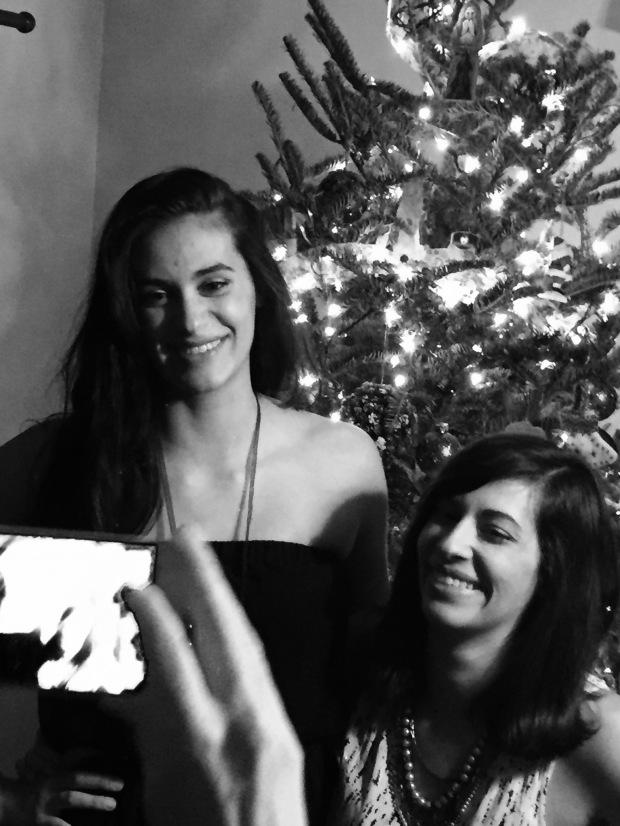 Noir Christmas sisters